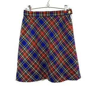 Vintage ESCADA Tarten Plaid High Waist Wool Skirt